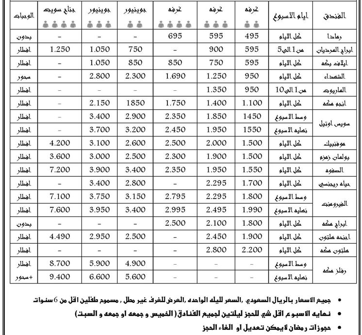 565739723 افضل و اجمل فنادق مكة القريبة من الحرم مع كل مايهم الزائر لمكة