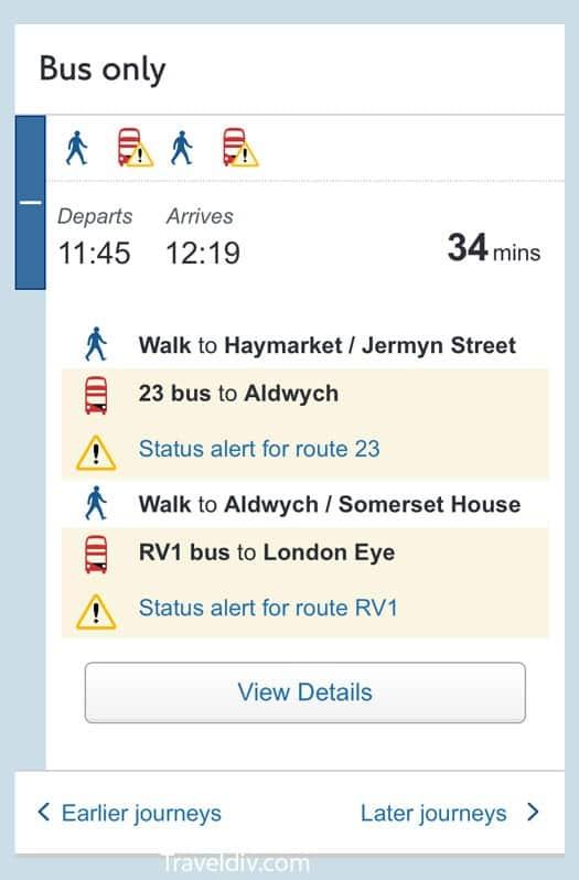 باصات و مترو لندن