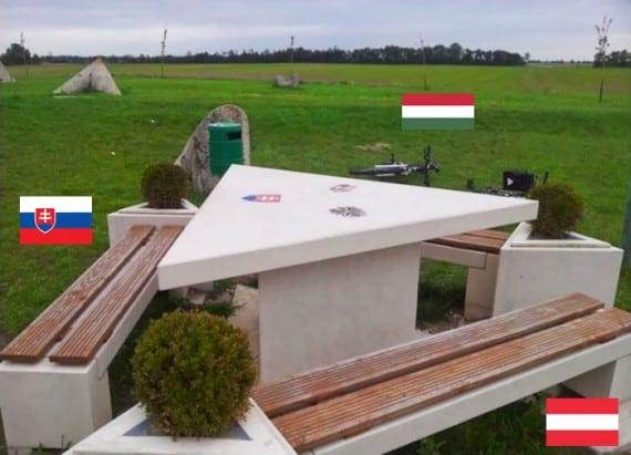 حدود سلوفاكيا والنمسا والمجر.