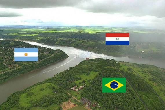 الأرجنتين والبرازيل وباراجواي.