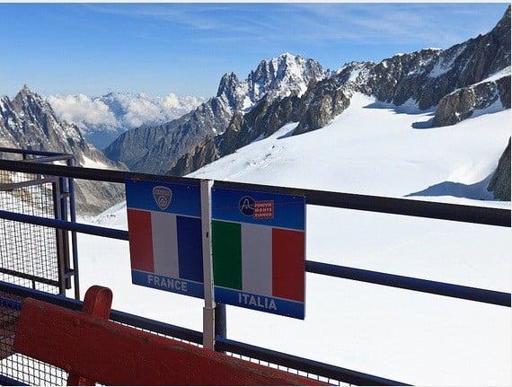 الحدود التي تفصل بين إيطاليا وفرنسا