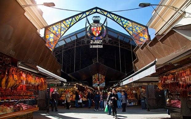 سوق بوكويريا La Boqueria