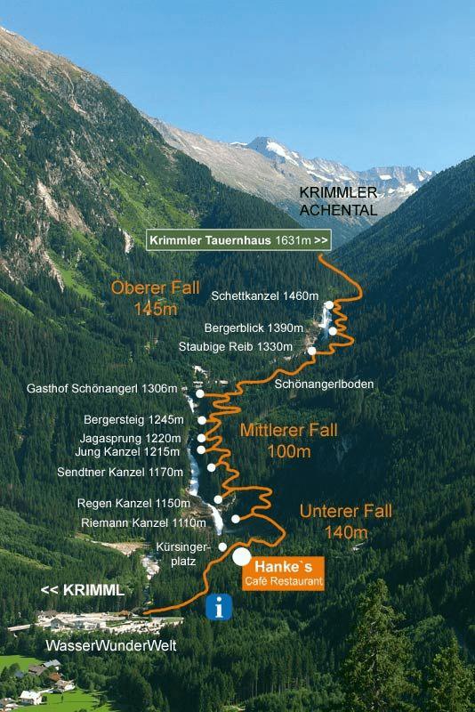 خريطة شلال كريمل