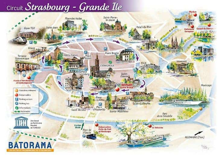 خريطة ستراسبورغ