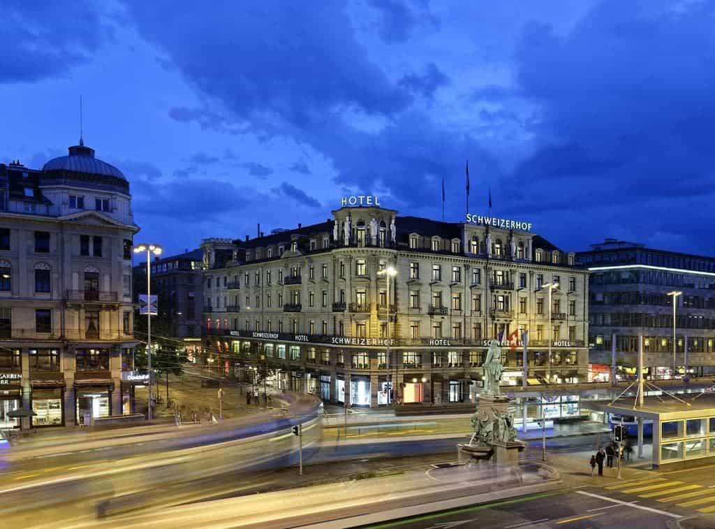 واجهة فندق شفايزرهوف زوريخ