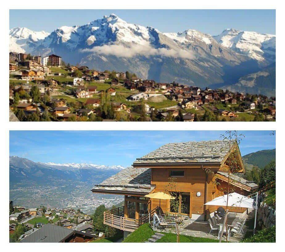 بيوت و جبال قرية نينداز