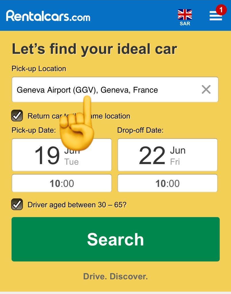 طريقة استئجار سيارة من rentalcar.com