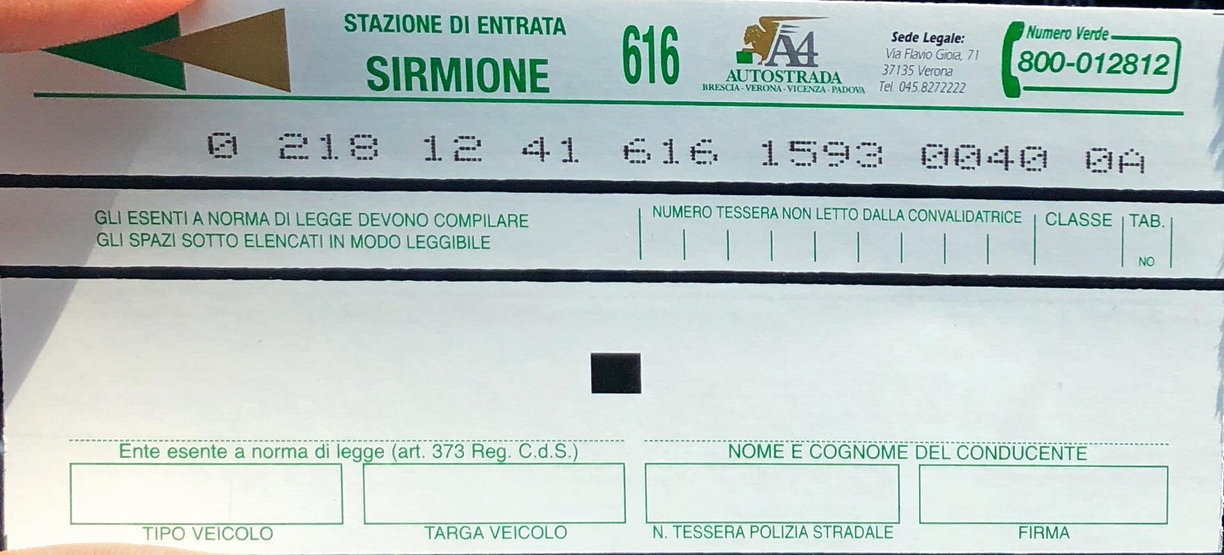 رسوم الطرق في ايطاليا