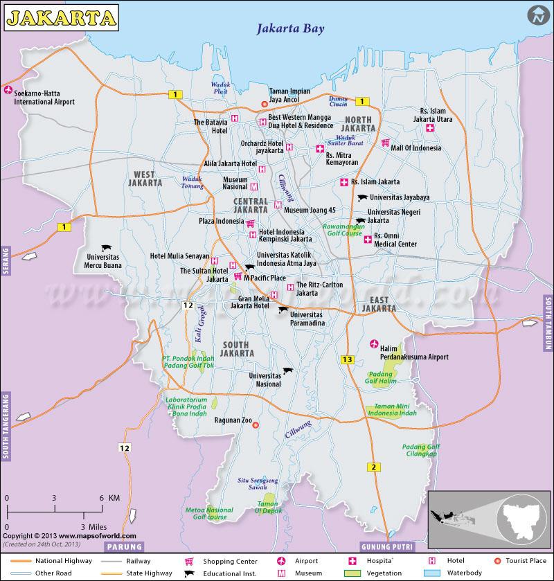 Image result for jakarta map