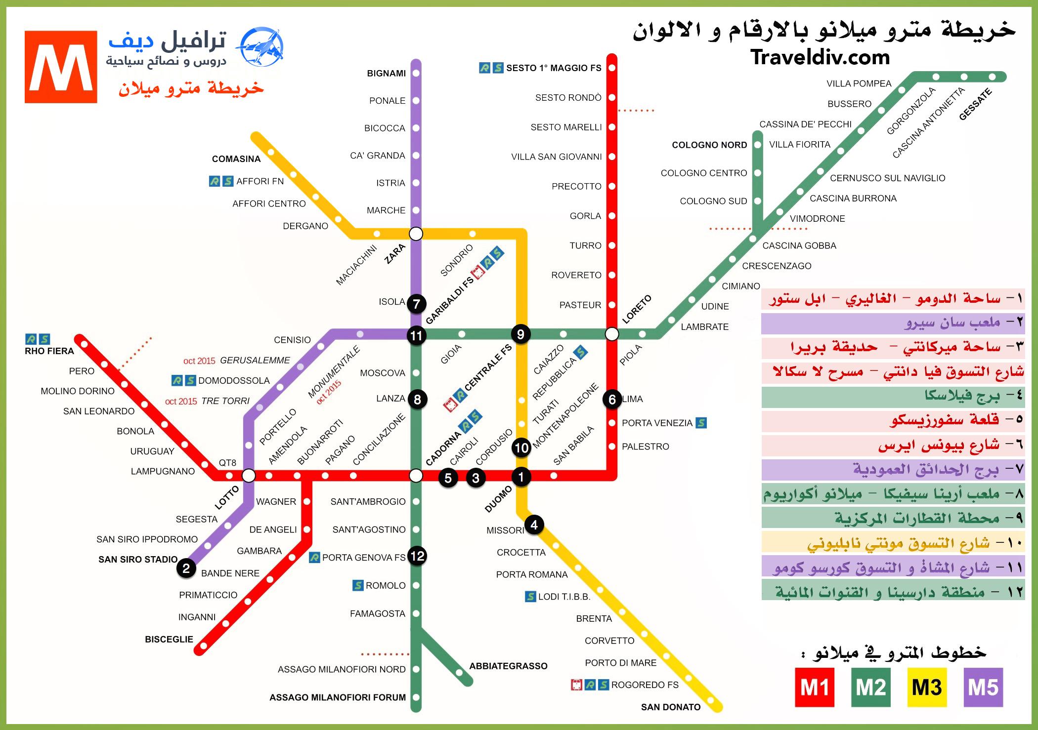 بالتفصيل العربية milan-metro-map-Reco