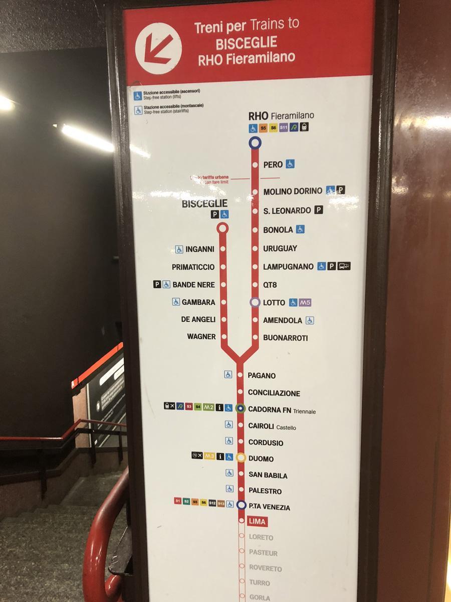 شرح مترو ميلان بالتفصيل مع خريطة المترو باللغة العربية
